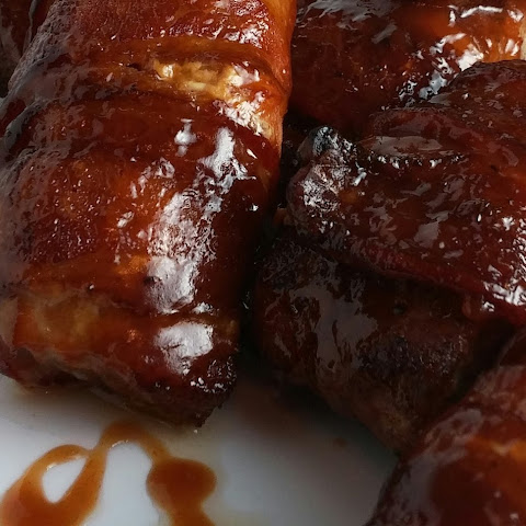 Bacon-Wrapped Smoked Country Style Ribs