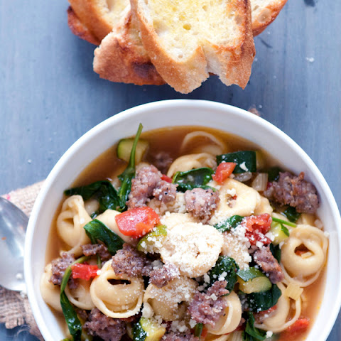 Classic Italian Sausage & Vegetable Tortellini Soup