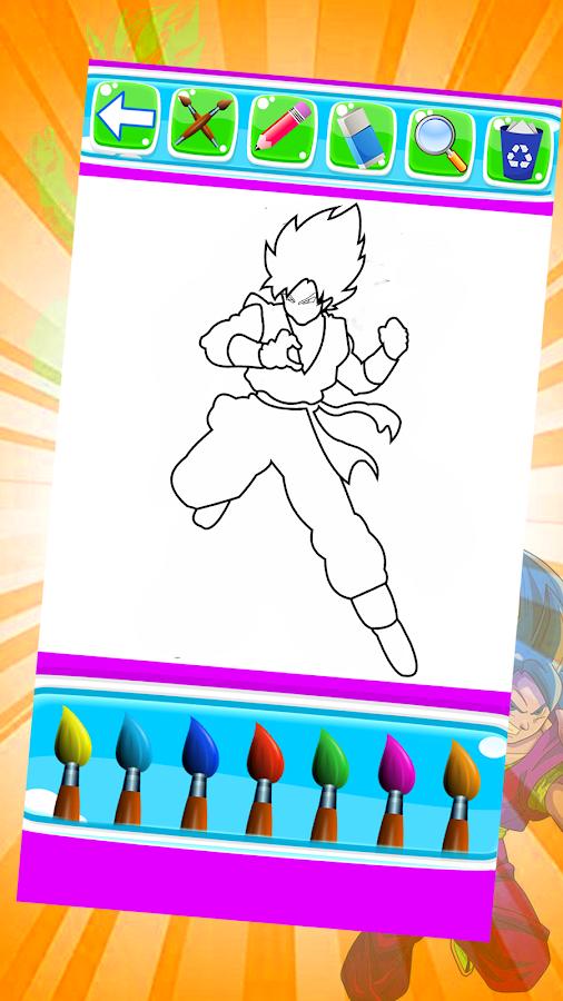 Goku Saiyan Superhero Färbung Spiele für Kinder android spiele download