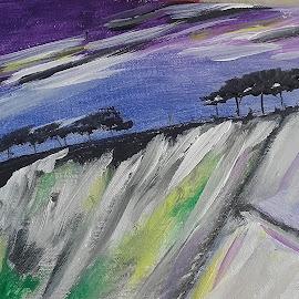 Violet by Vanja Škrobica - Painting All Painting