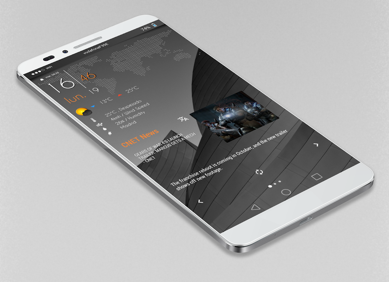 Gray Bloom XIU for Kustom/klwp Screenshot 5