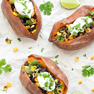 Healthy Mexican Baked Sweet Potatoes