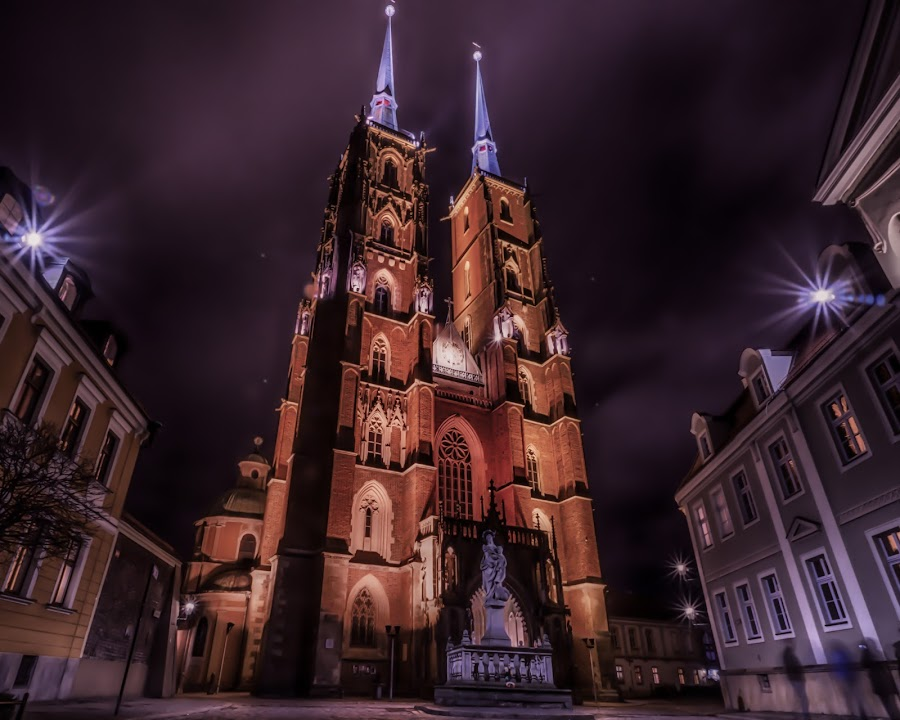 Wroclaw Cathedral by Adam Lang - Buildings & Architecture Places of Worship ( church, cathedral island, cathedral, wroclaw, poland )