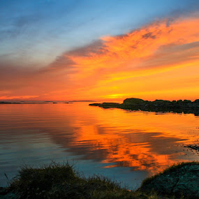 Colerfull sunset at Aakrehamn by Thomas Sjøen - Landscapes Sunsets & Sunrises ( sunset, collerfull, åkrehamn, coast, norway )