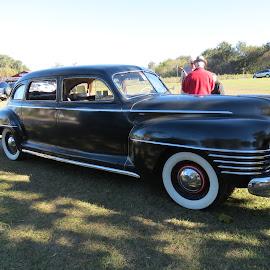 1942 Chrysler by Rita Goebert - Transportation Automobiles ( antique auto; chrysler; rally; florida; yalaha bakery )