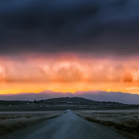 Storms coming in by Jeannie Matteson - Landscapes Deserts