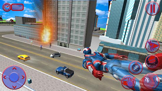 Flying Superhero Captain Robot Crime City Battle for pc