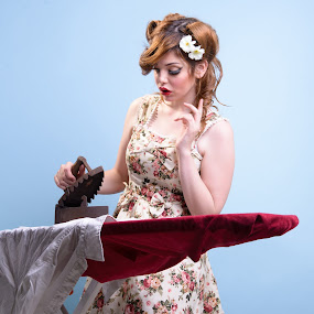 Retro Ironing by Mike Mor - People Portraits of Women ( model, vintage, woman, retro, pinup )