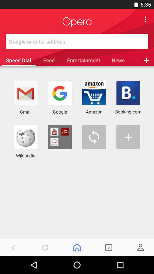 Opera browser beta Screenshot 0