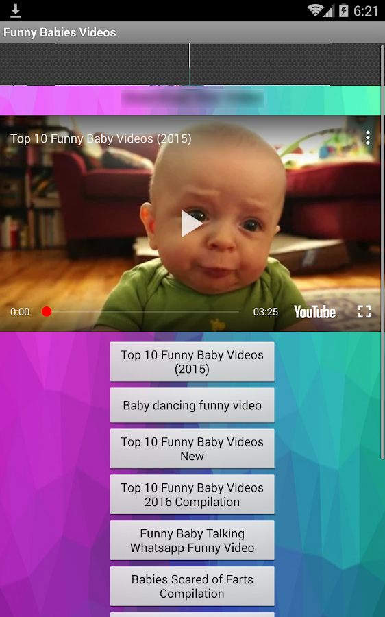 Funny Baby Videos Clips Screenshot