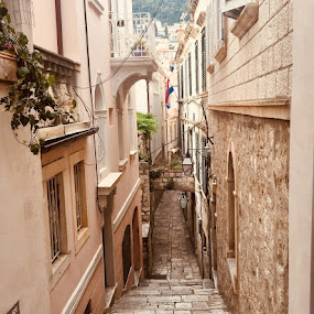 The Old Town- Dubrovnik by Di Mc - Buildings & Architecture Public & Historical ( walkways, pebbles, town, old, lanes, dubrovnik, paved, stone )