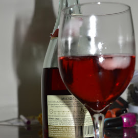 Red by Michele Kelley - Novices Only Objects & Still Life ( wine, red, still life, objects, shadows )