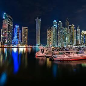 Dubai Marina by Andrew Madali - City,  Street & Park  City Parks