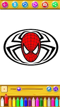 Coloring Book for the amazing spider hero apk screenshot