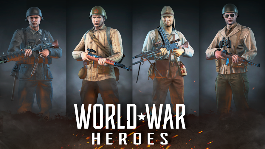 World War Heroes: WW2 FPS Shooting games! Android App Screenshot