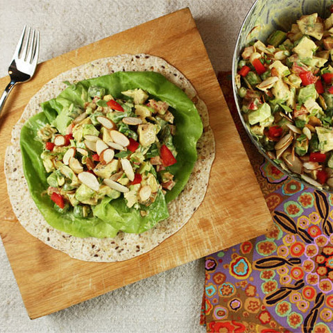 Curried Chicken Salad with Asparagus and Almonds