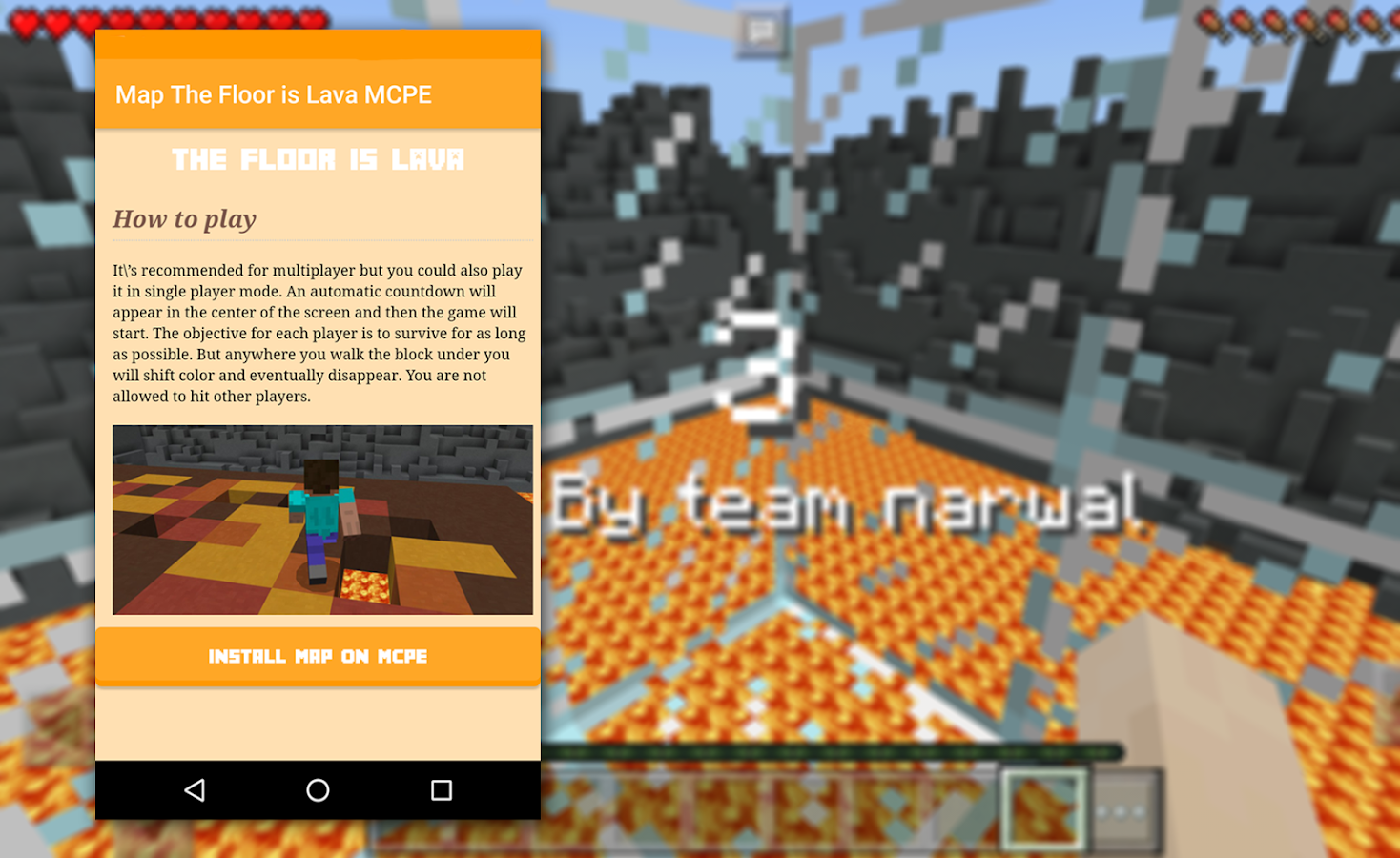 Karte der boden ist lava f r mcpe android apps download for Boden ist lava
