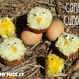 Carrot Cupcakes (Easter Chicken Cupcakes)