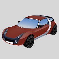 Smart car - low poly