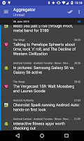 Screenshot of Aggregator | RSS News Reader
