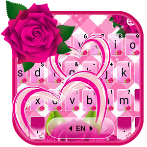 Pink Roses Keyboard Theme For PC