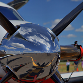 Reflecting by Joe Fernandez - Artistic Objects Industrial Objects ( hdr, airplane, art, prop, reflecting )