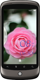 Camellias Lock Screen - screenshot