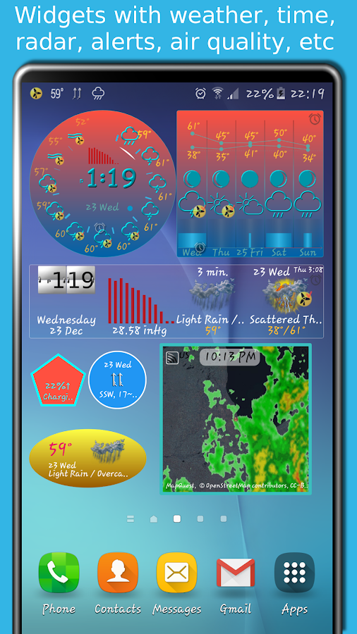 eWeather HD - weather, air quality, alerts, radar Screenshot 1