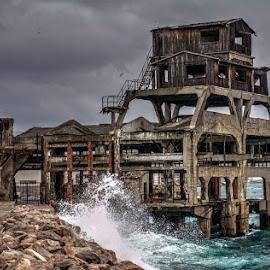 Original torpedo testing site by Ferdo Fulgosi - Buildings & Architecture Decaying & Abandoned ( testing site, shoreline, sea, torpedo, abandoned, decay )
