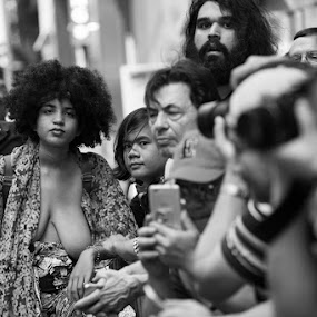 Go Topless by VAM Photography - Black & White Street & Candid ( b&w, woman, culture, topless, nyc, people )