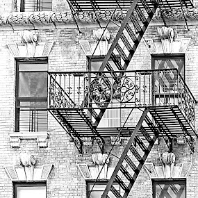 The Stairs by Joatan Berbel - Black & White Buildings & Architecture ( stairs, black and white, buildings, architectural detail, street photography )
