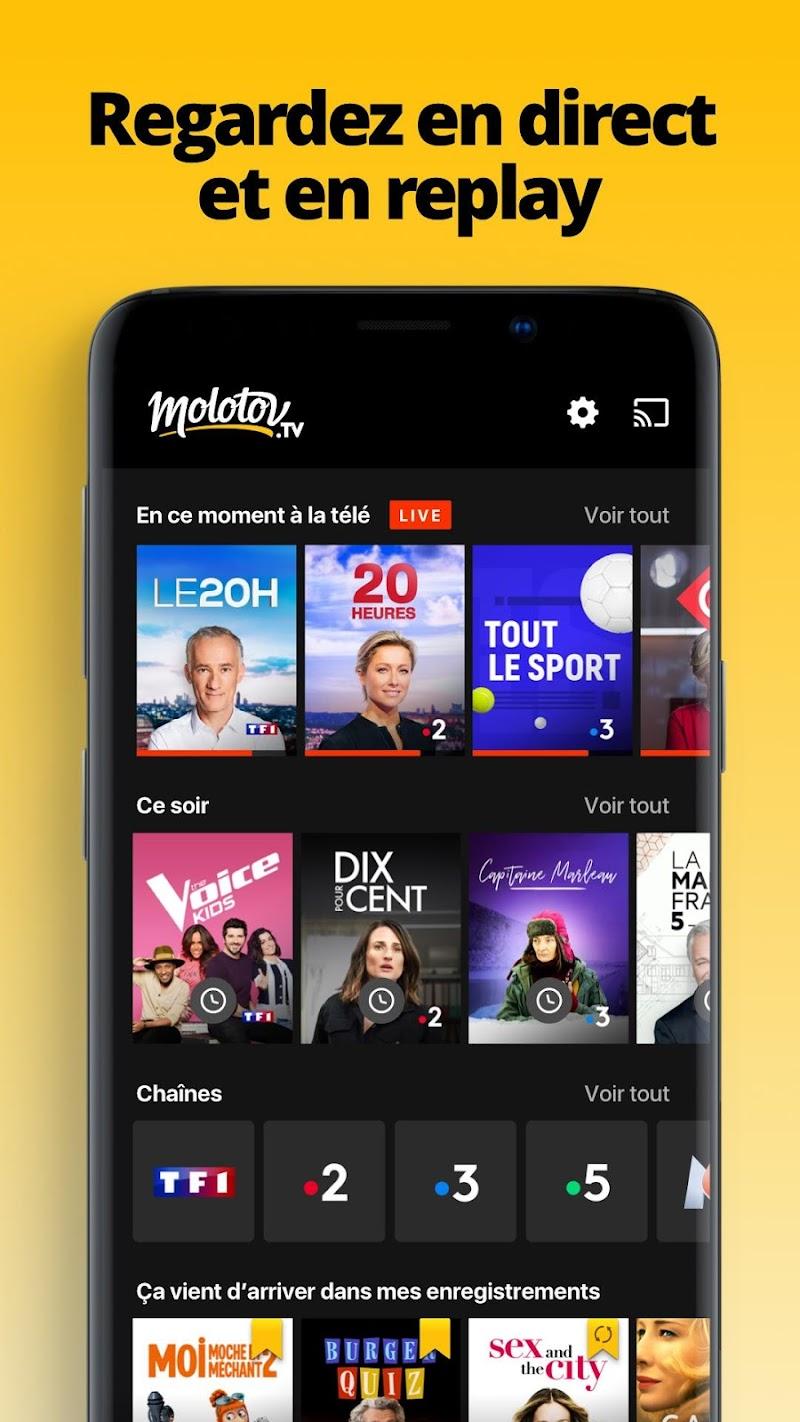 Molotov - TV en direct et en replay Screenshot 0