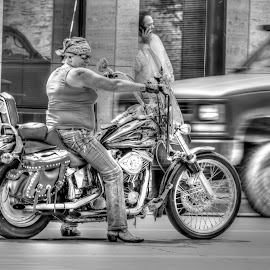 City Chick by Bob George - Transportation Motorcycles