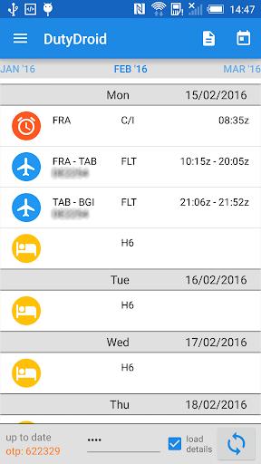 DutyDroid - screenshot