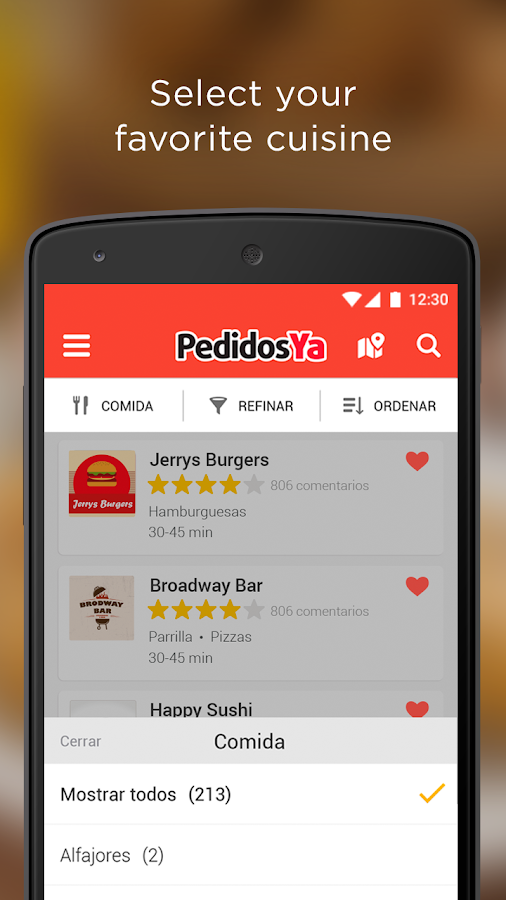 PedidosYa - Food Delivery Screenshot 1
