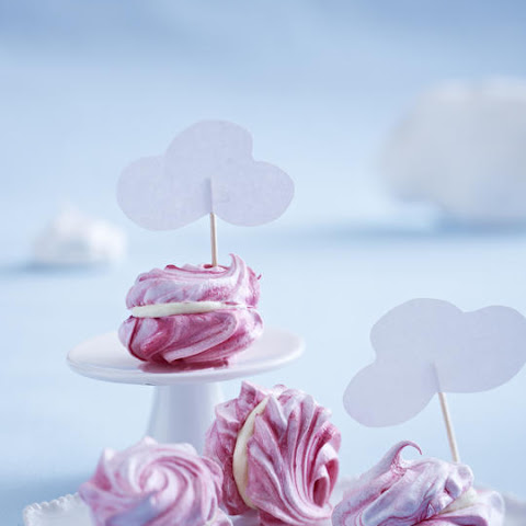 Pink and White Chocolate Meringues