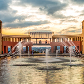 Parque Tanguá - Curitiba=PR by Rqserra Henrique - City,  Street & Park  City Parks ( brazil, longexposure, sunset, colorfull, clouds, fineart, water, rqserra )