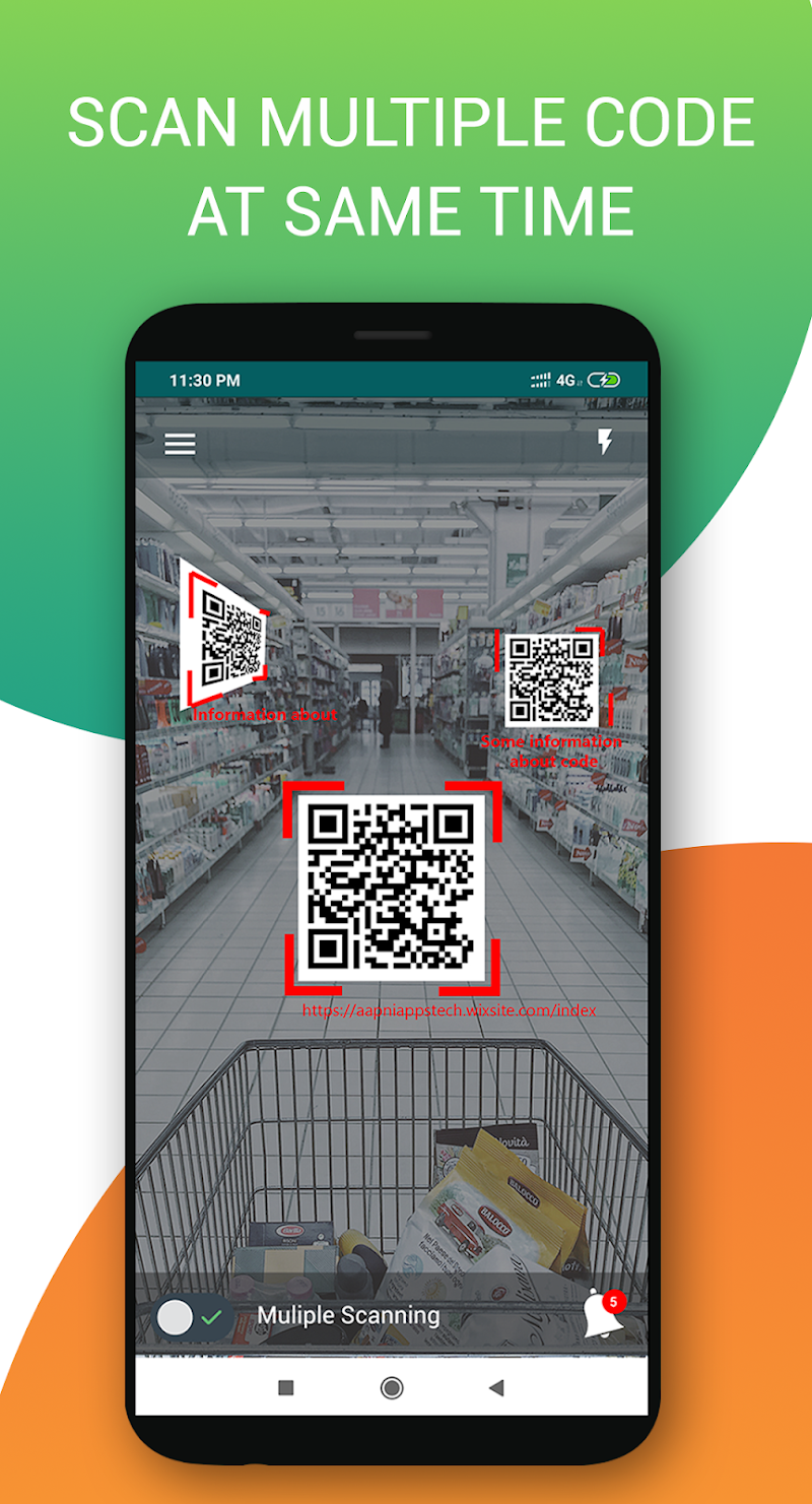 Multiple qr barcode scanner Pro Screenshot 0