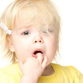 mini meltdown by Chris Shaffer - Babies & Children Toddlers ( sister, blonde, sad, daughter, toddler )
