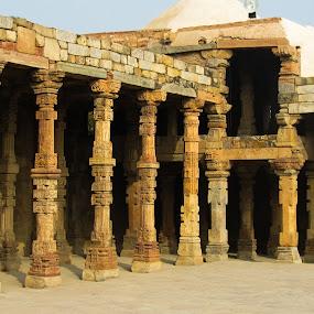 Old is Gold - Qutub Minar by Kapil Shendge - Buildings & Architecture Public & Historical ( india, architecture, minar, qutub, delhi )