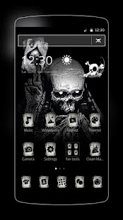 Ace Black Cool Skull