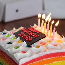 by Madiha Achmad - Food & Drink Candy & Dessert ( candle, birthday, cake, candlelight, food, candles, candle light )