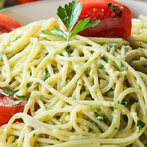 Garlic Avocado Pasta
