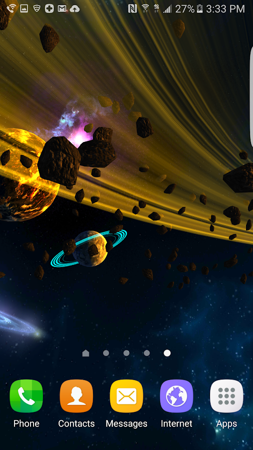 3D Galaxies Exploration LWP Screenshot 6
