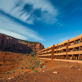 Hotel in the Desert by Kimberly Sheppard - Buildings & Architecture Office Buildings & Hotels ( sky, desert, arizona, rock formation, hotel )