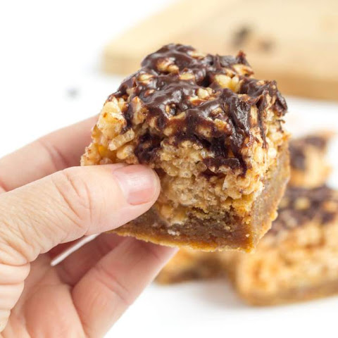 Milk Chocolate Rice Krispie Toffee Squares