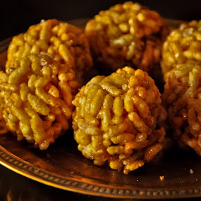 Murmura ladoo by Akash Kumar - Food & Drink Plated Food ( ladoo, sankranti food )