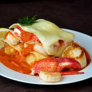 Seafood Lasagna with Roasted Fennel Tomato Sauce