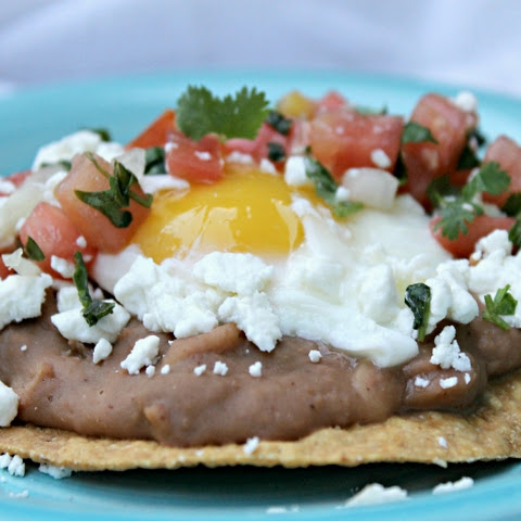 Vegetarian Huevos Rancheros with Fresh Pico de Gallo