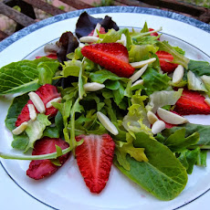 Spring Baby Greens with Sliced Strawberries